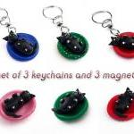 Set Of Three Polymer Clay ..