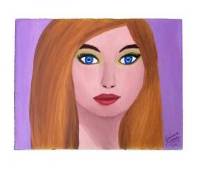 Woman Portrait Painting, Original Painting, Acrylic on Canvas, Ready to hang