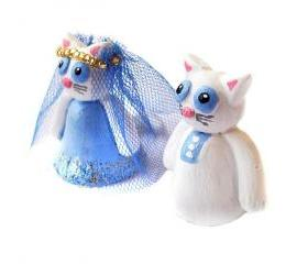 Wedding Cake Topper, Cat Cake Topper, Polymer Clay Cat Cake Topper, Kitty Cake Topper